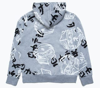HYPE X LEGO® NINJAGO® Grey Just Hype Faces Kids' Pullover Hoodie