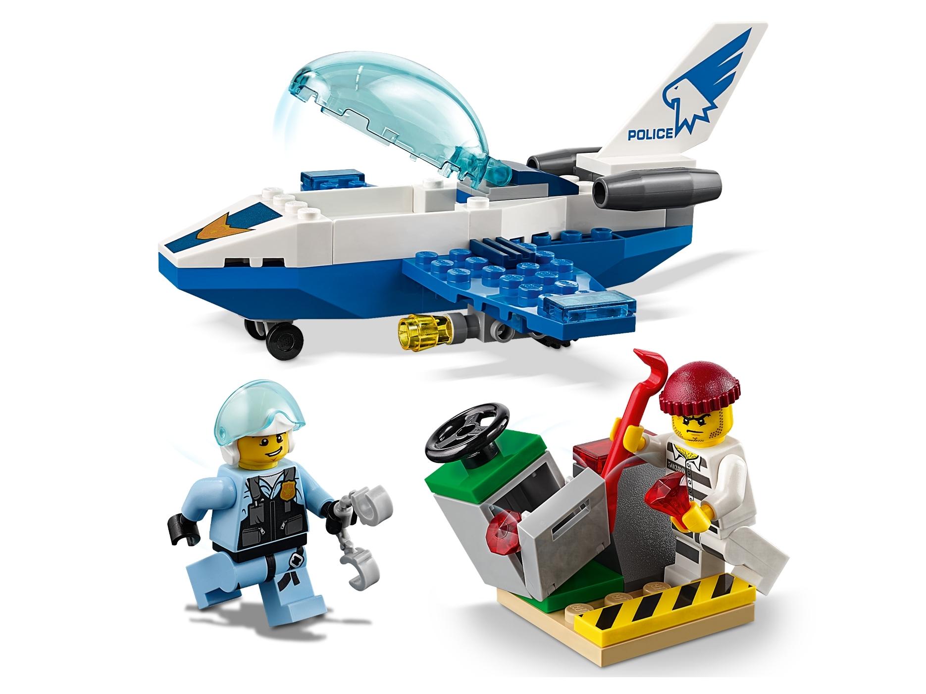 LEGO City Sky Police Jet Patrol Set Box Damage 60206