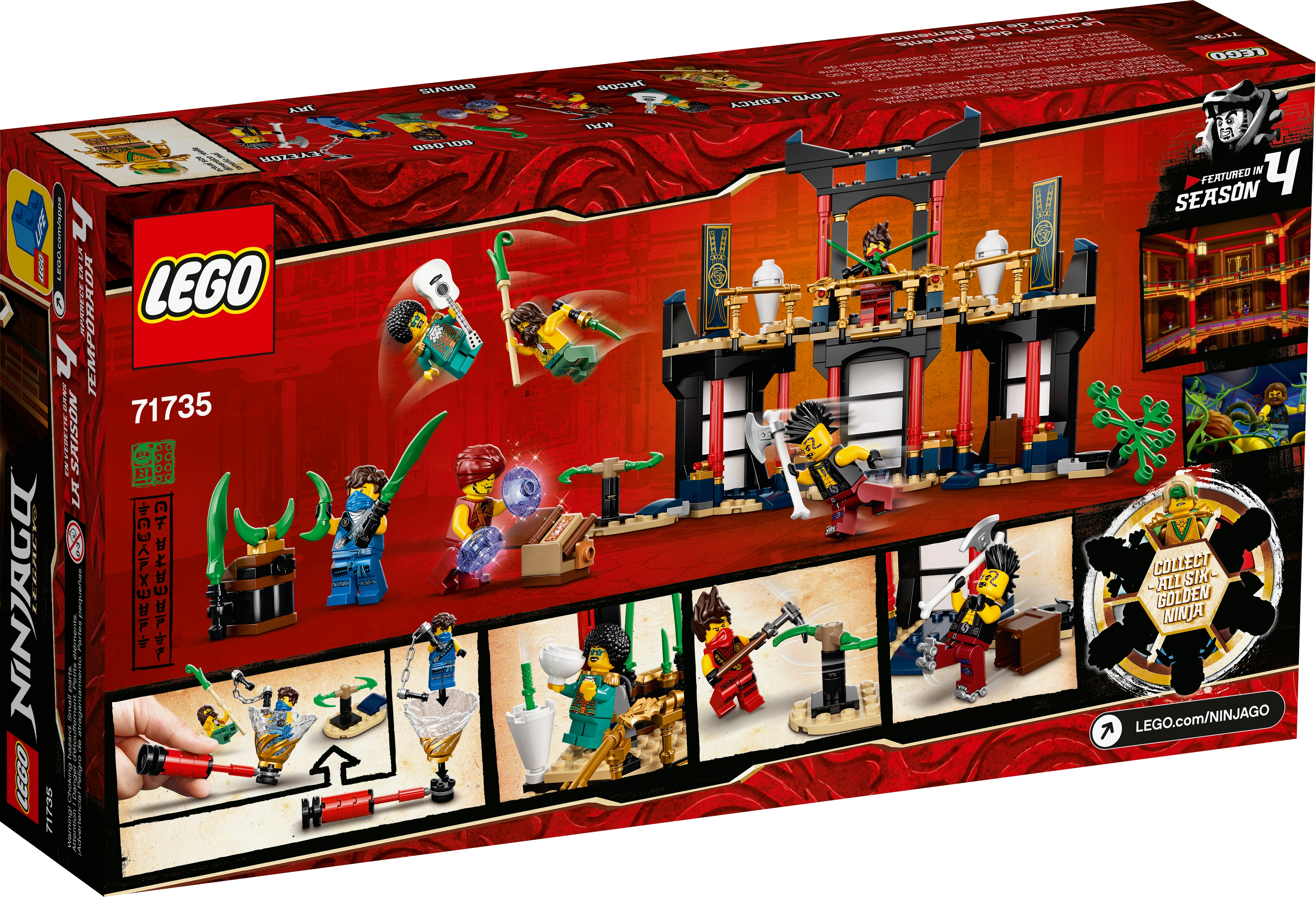 Turnier der Elemente LEGO® Ninjago Figur Eyezor aus Set 71735 njo639
