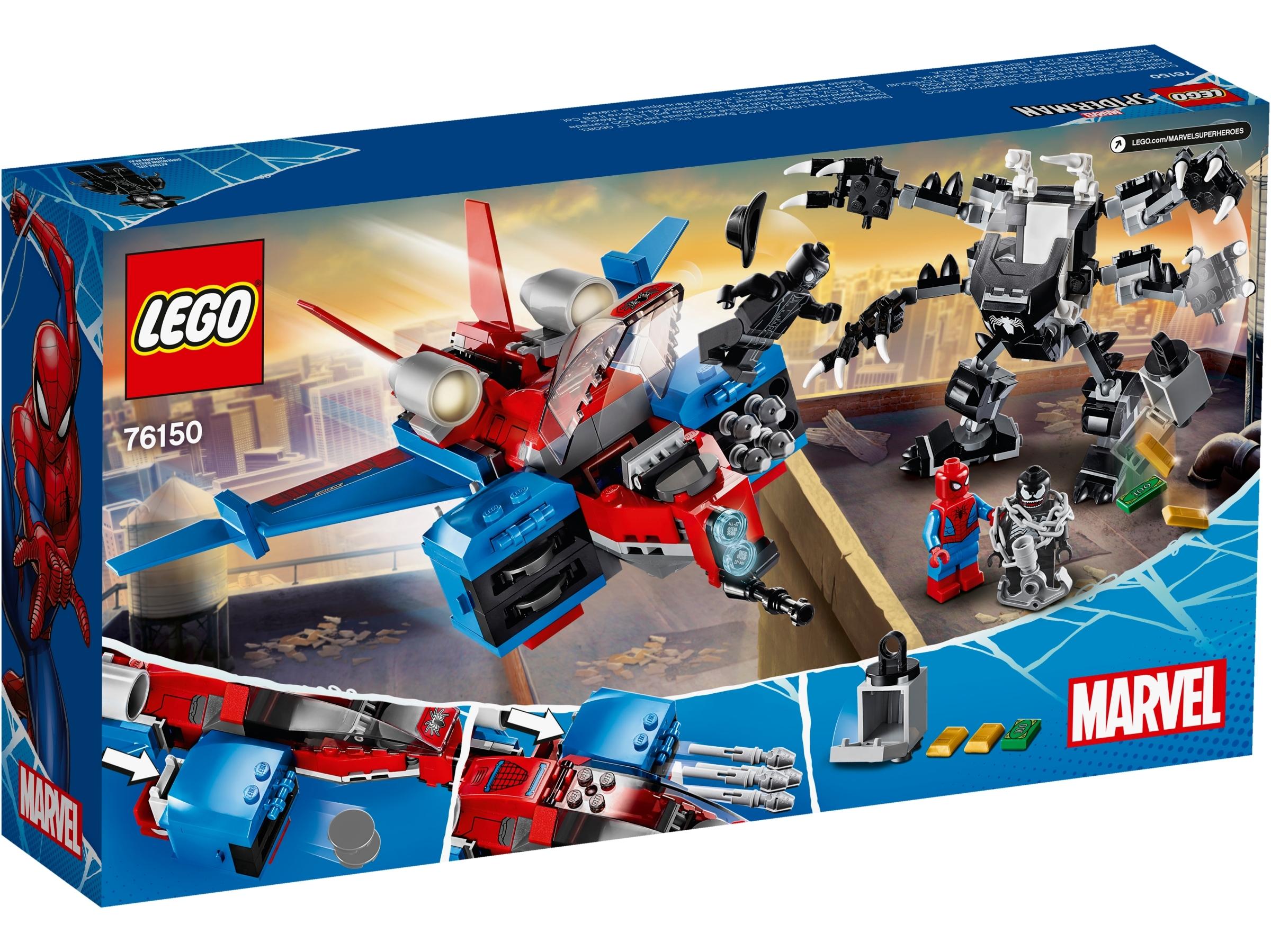 LEGO Marvel Spider-Man 76150 Spider-Man Jet vs Venom Mech Damaged Box
