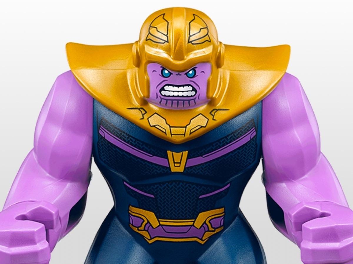 AUTHENTIC Avengers Infinity War LEGO Thanos Minifigure 76107 Big Fig Endgame
