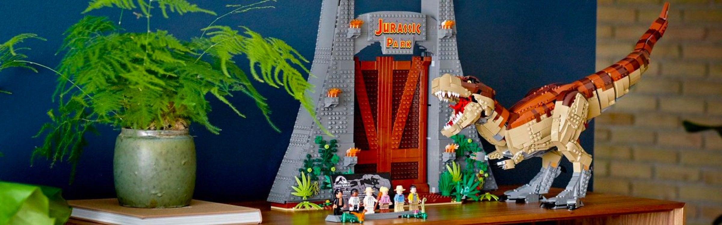 Jurassic World Minifigures T-Rex Crocodile Animal Dinosaurs Building Block Toys