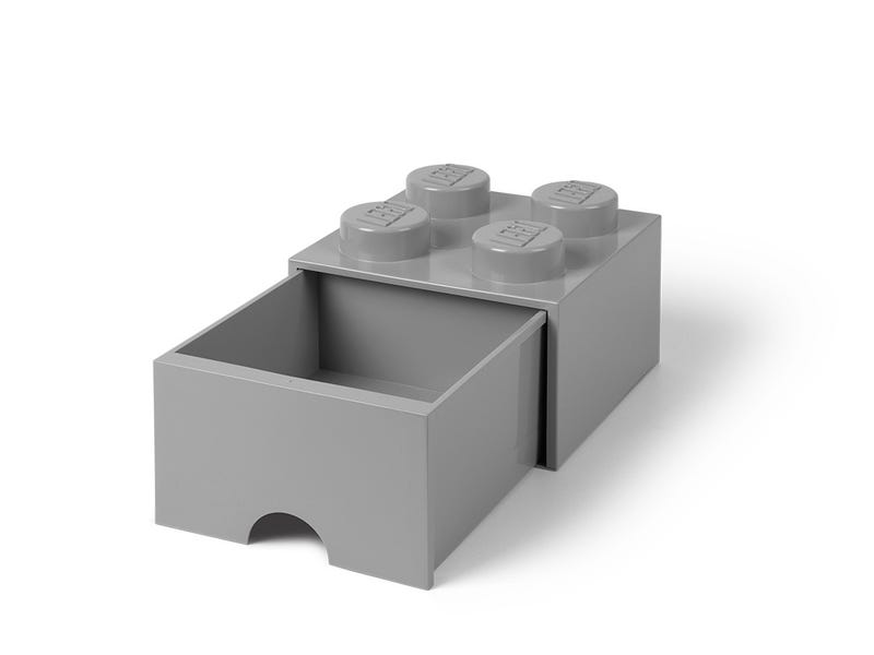 LEGO Brand Retail - LEGO® 4-Stud Medium Stone Gray Storage Brick Drawer