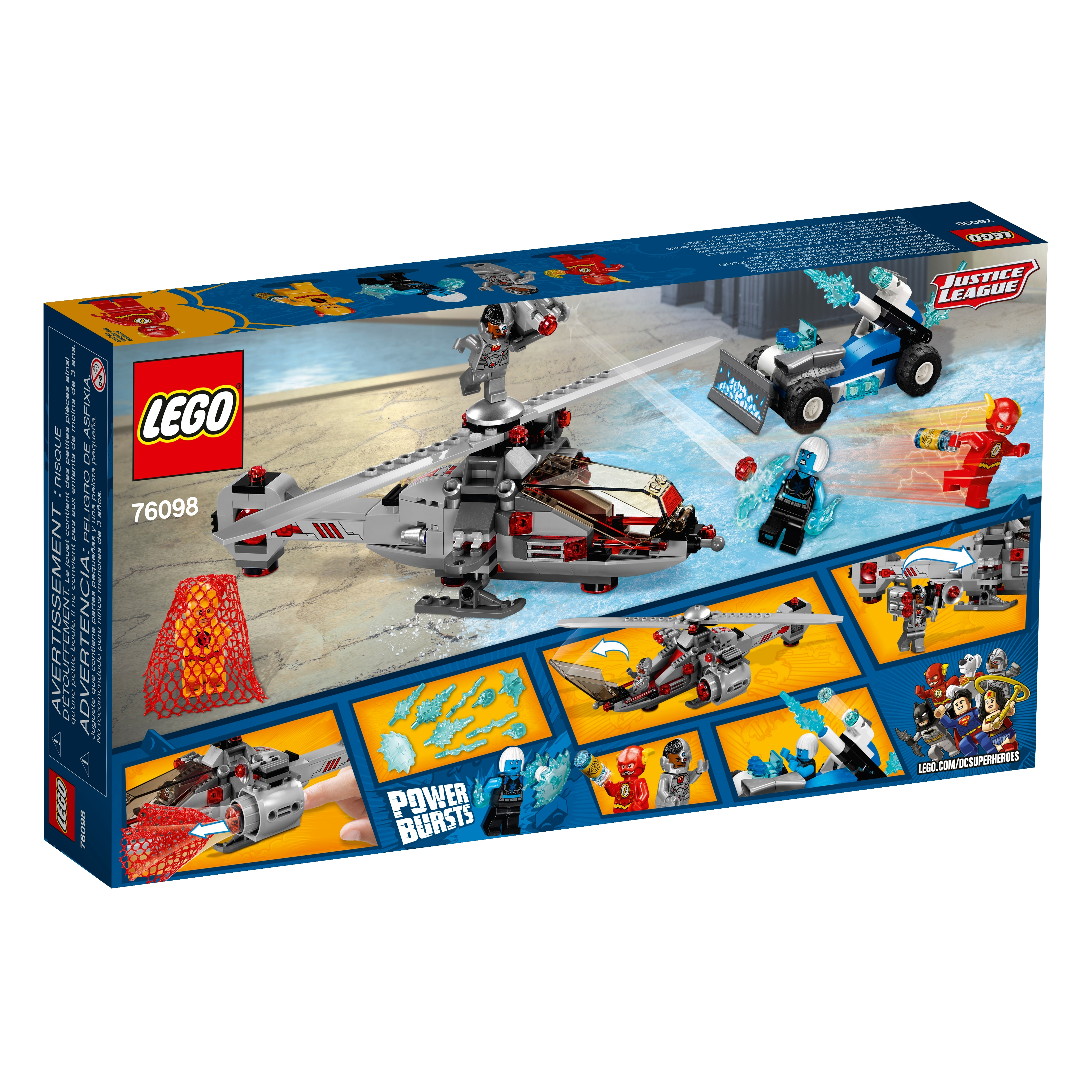 LEGO PART STICKER FOR SET 76098 SPEED FORCE FREEZE PURSUIT SUPER HEROES