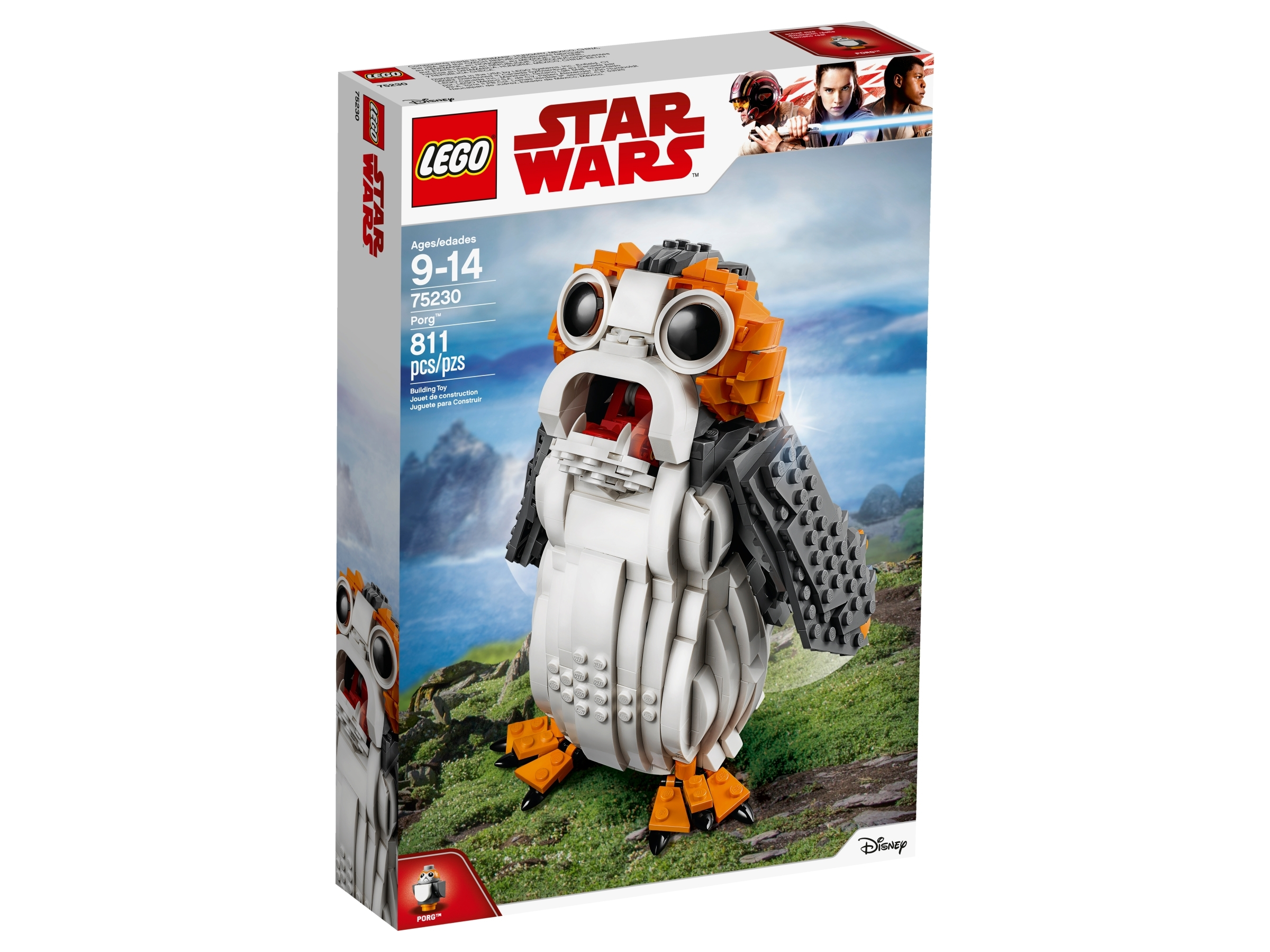 Lego Porg 75200 with Dark Bluish Gray Wings and Tail Animal Minifigure Figure
