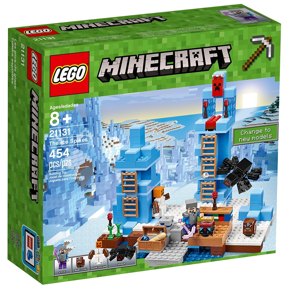 LEGO 21131 Minecraft The Ice Spikes 454pcs New Free Shipping