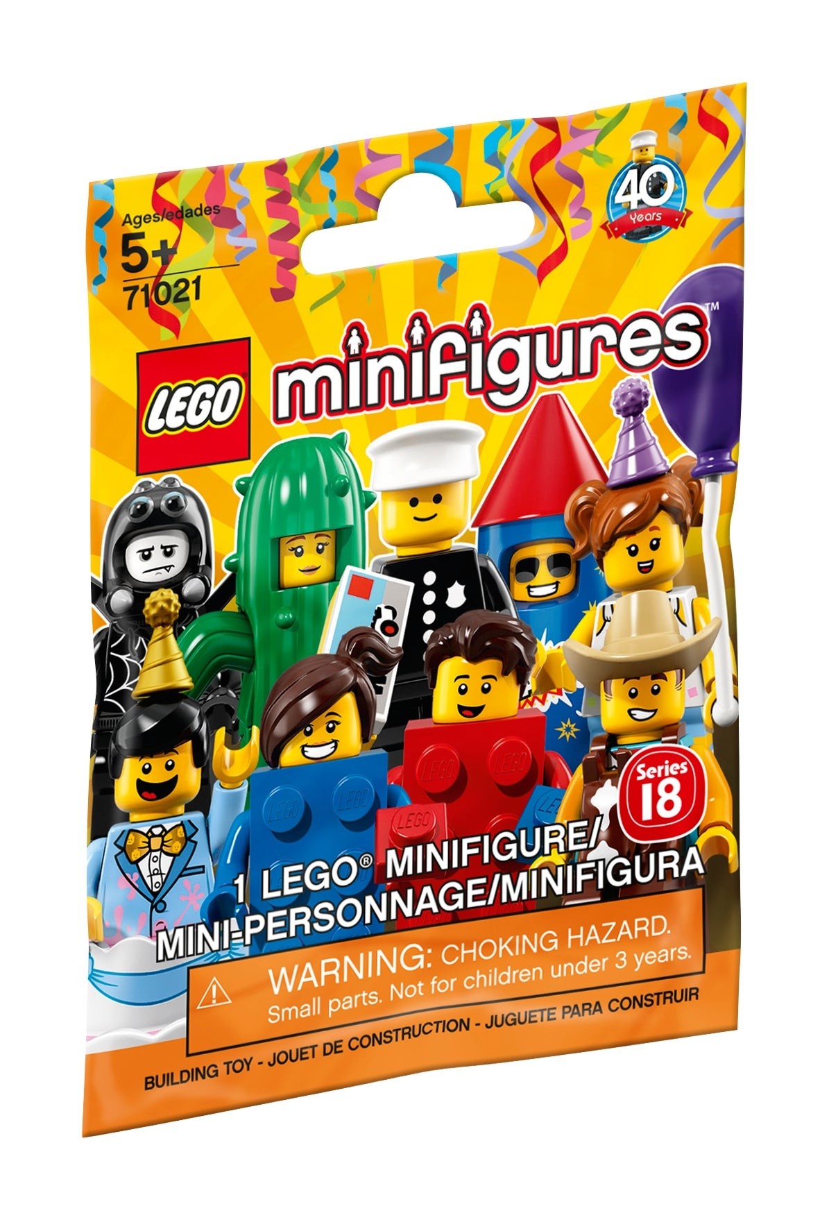 Lego Minifigures series 18 Brick Suit Guy Brand New complete w// accessories