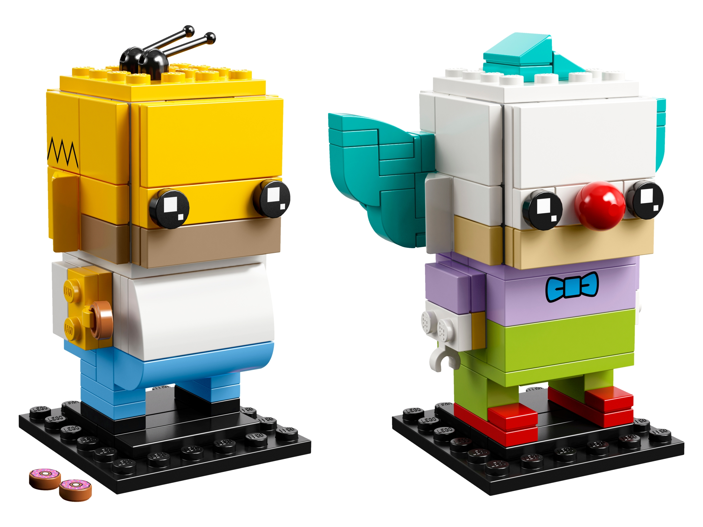 LEGO MINIFIGURES  SERIES THE SIMPSONS X 1 HEAD FOR KRUSTY THE CLOWN PARTS