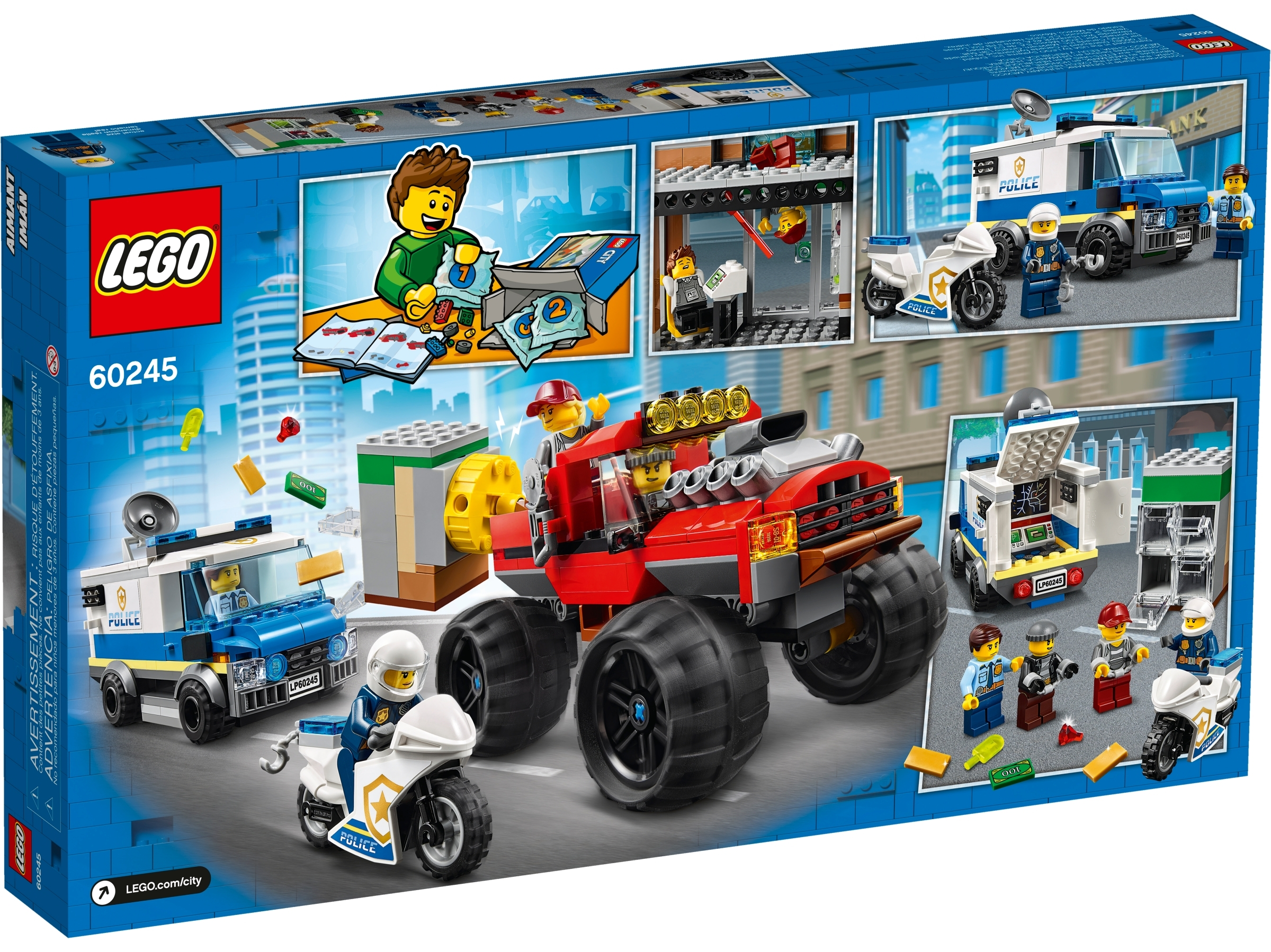 Police Monster Truck Heist 60245 City Buy Online At The Official Lego Shop Us
