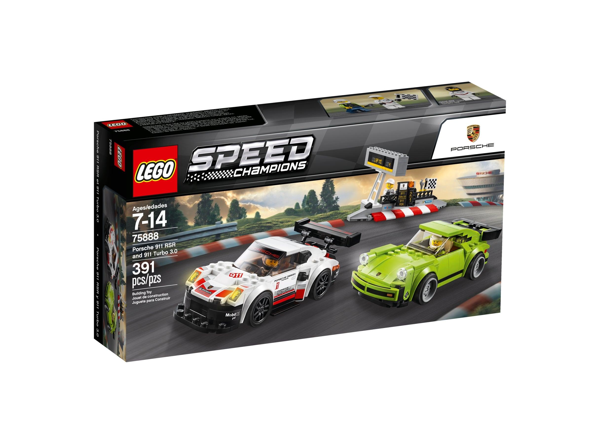 Porsche 911 RSR und 911 Turbo 3.0 75888 LEGO Speed Champions NEU /& OVP
