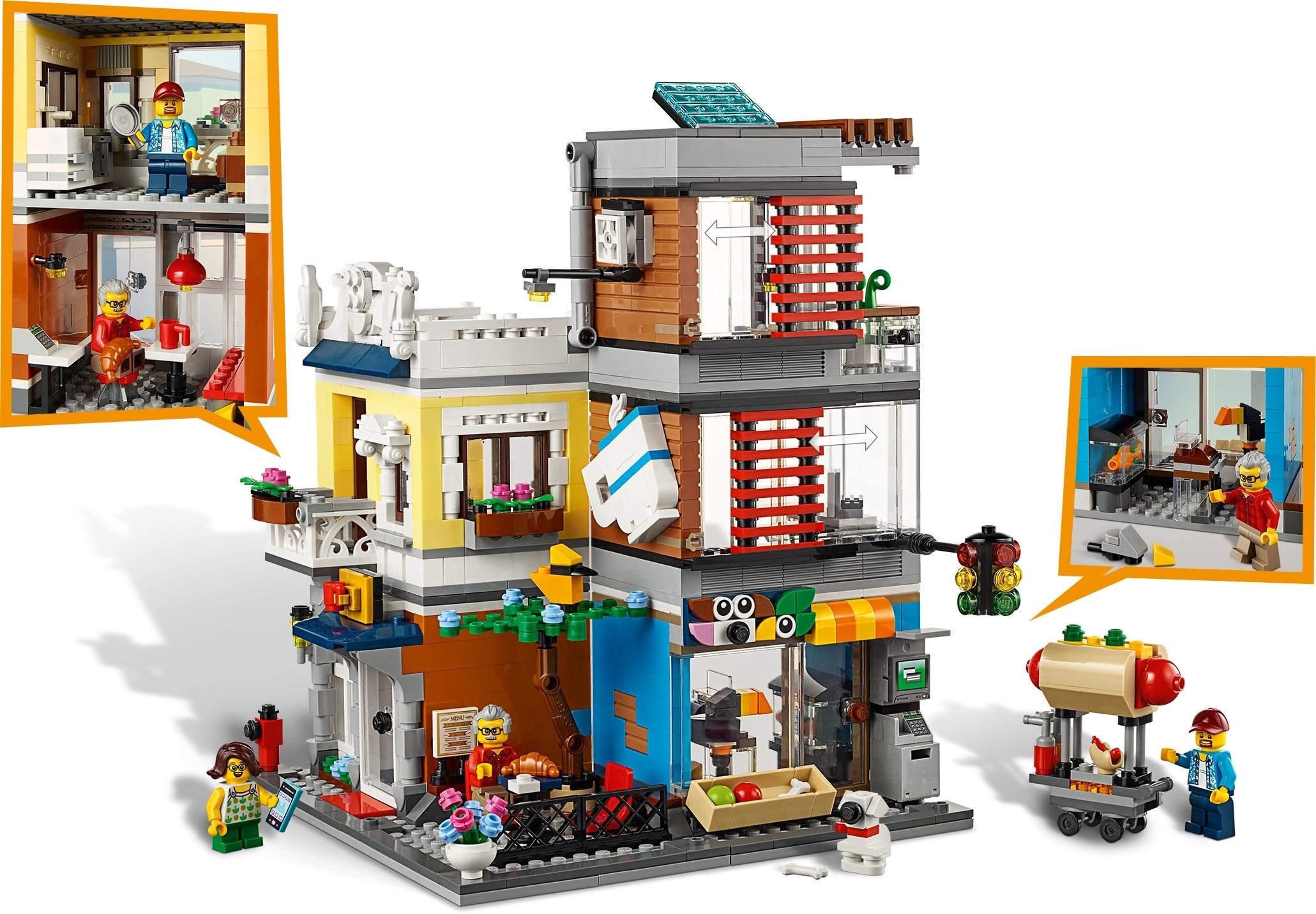 NEU//OVP LEGO® Creator 31097 Stadthaus mit Zoohandlung /& Café