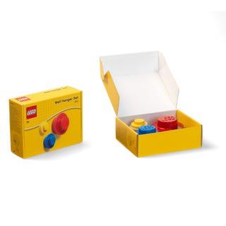 Wandhaken-Set in Rot, Blau und Gelb