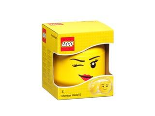 Rangement en forme de tête de fille LEGO® – Petit (clin d'œil)