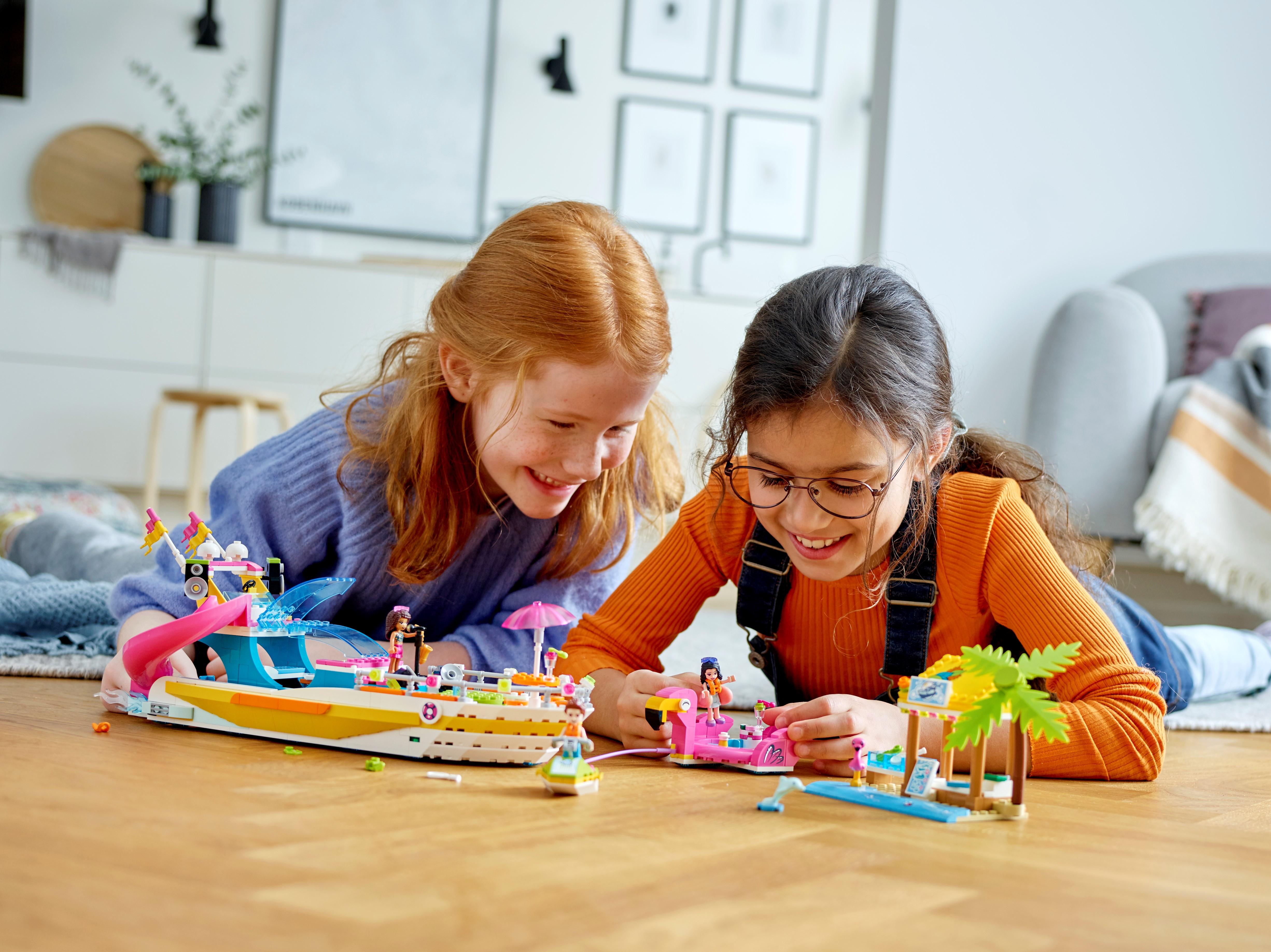 Lego Friends Fiesta Barco Juguete vacaciones serie 41433 Conjunto de Juego Construcción Niñas Regalo Juguete