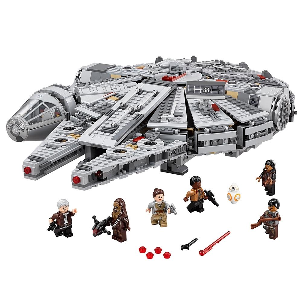 LEGO Star Wars Rey Figur Minifig Millenium Falcon Falke TFA EP7 75105 75099