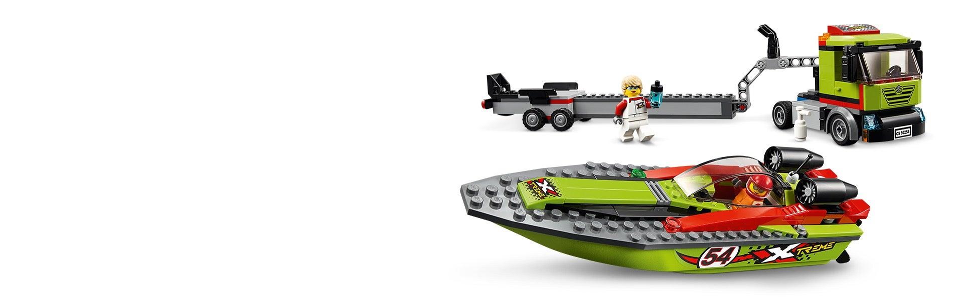 Lego City Porto 4643 Transporter di Motoscafi Fuori Produzione Raro NO 60254