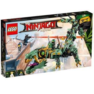 Grønn ninjarobotdrage