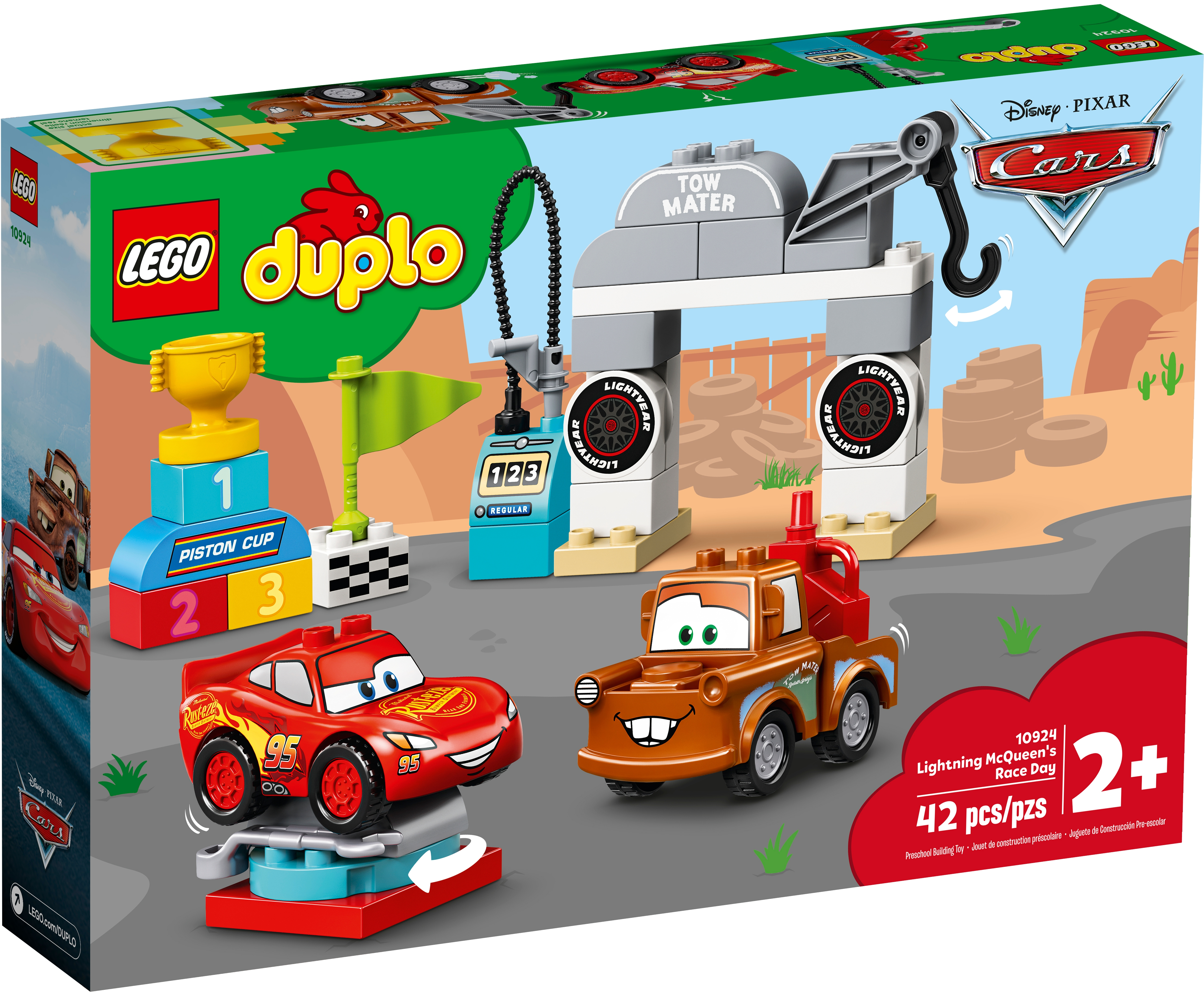 Lightning Mcqueen S Race Day 10924 Disney Buy Online At The Official Lego Shop Us