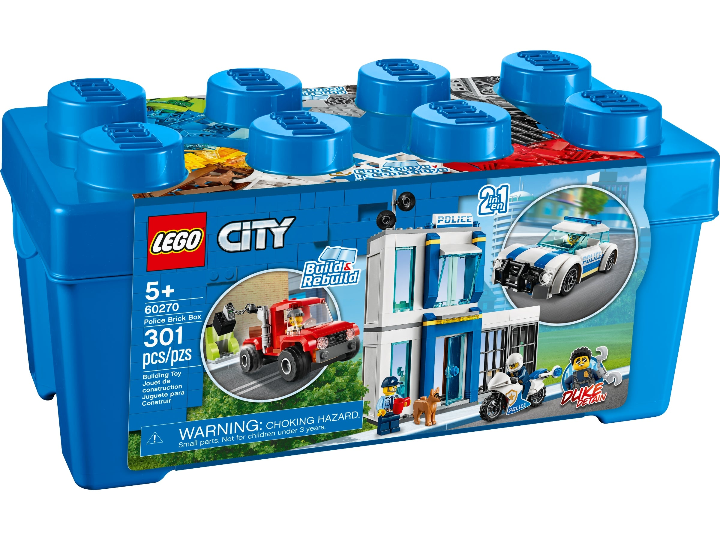 LEGO City 60270 2 in 1 Police Brick Box NEW Free Shipping