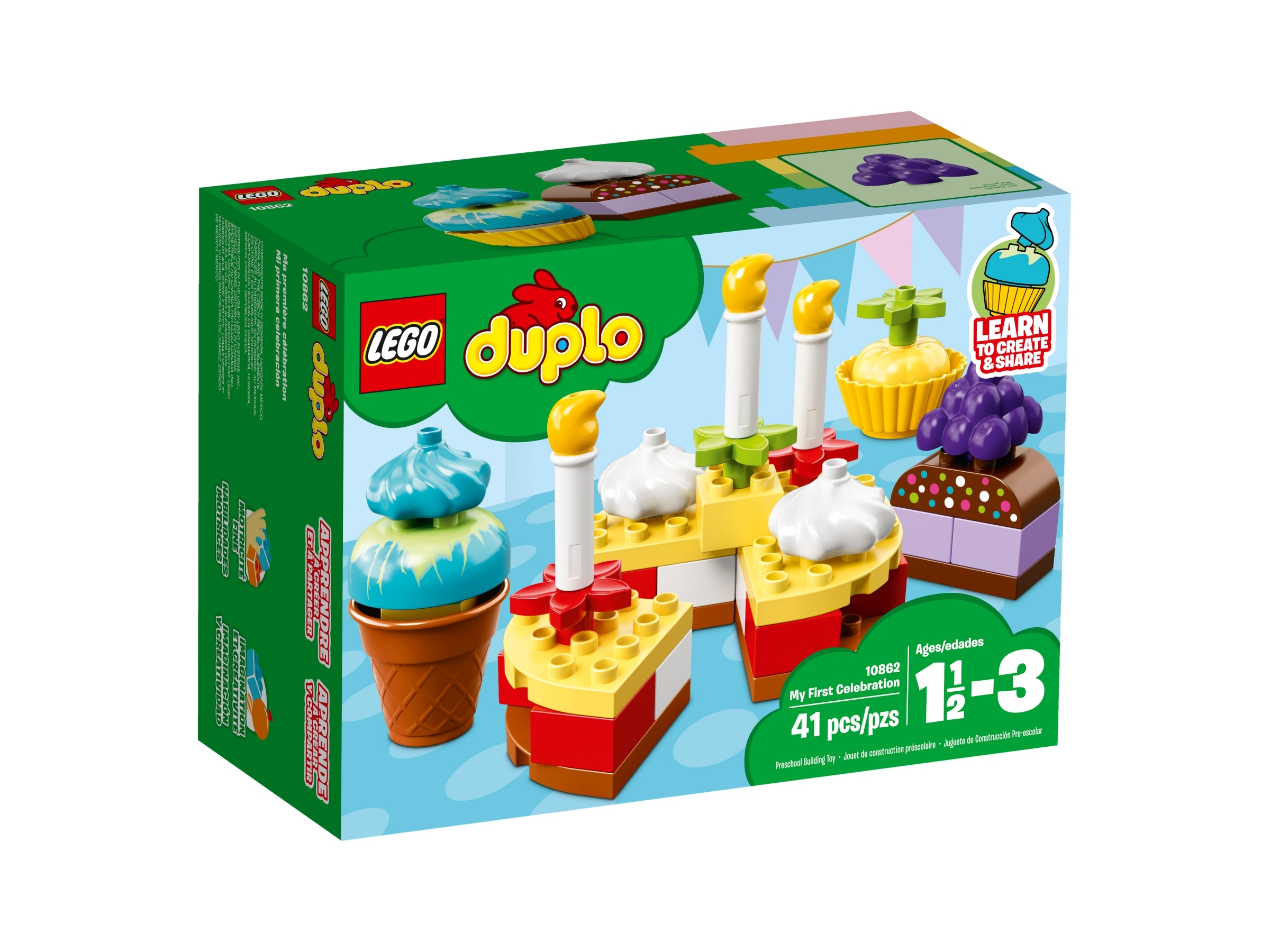 Lego Duplo Minifigure Accessory Cake Food