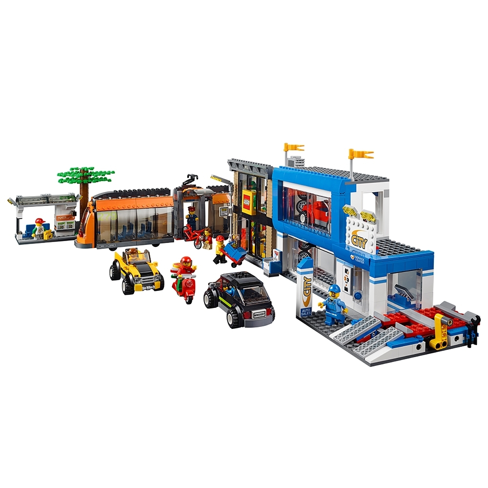 LEGO City MiniFigure w// Scooter Set 60097 Pizza Delivery Man