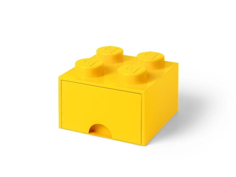 LEGO® 4-stud Bright Yellow Storage Brick Drawer