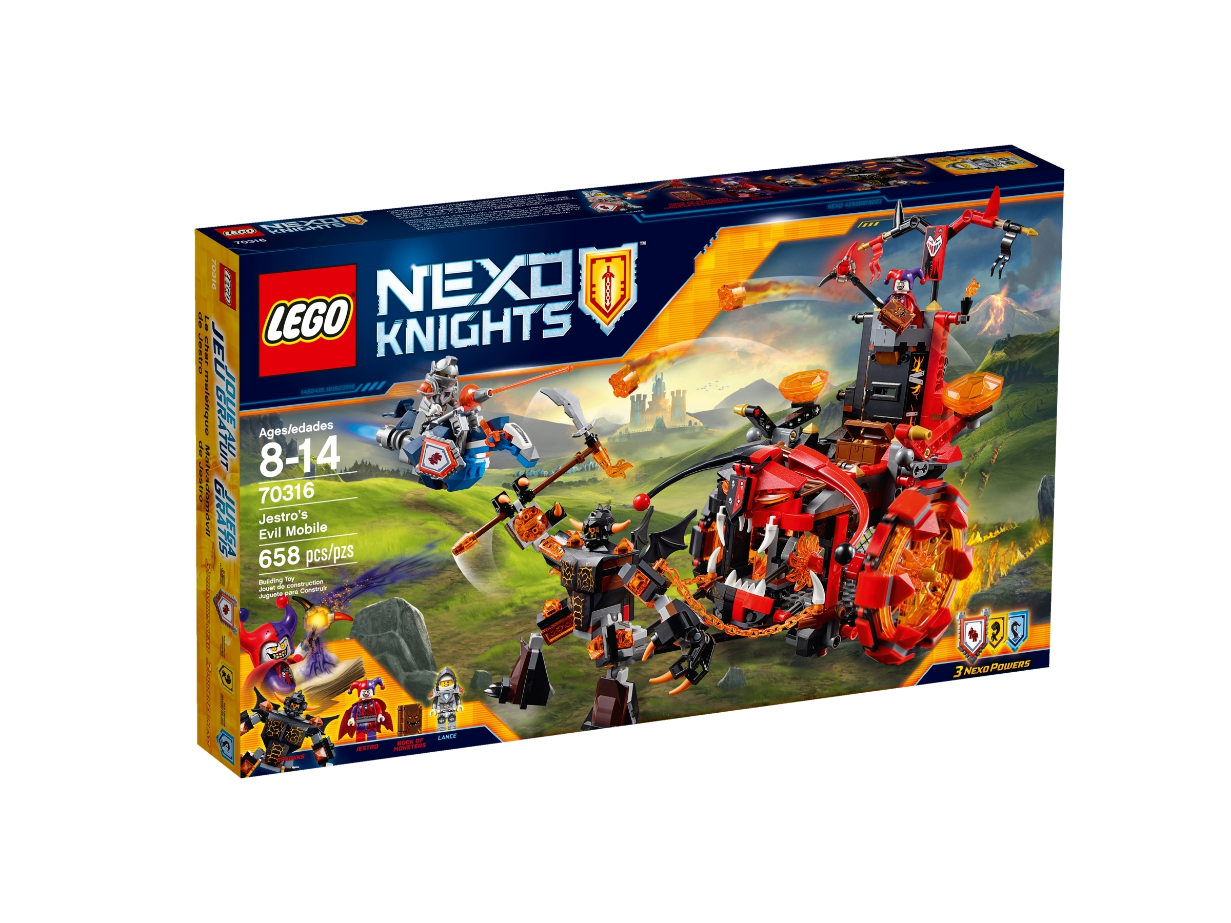 Lego Jestro 70323 70316 Red and Dark Purple Nexo Knights Minifigure