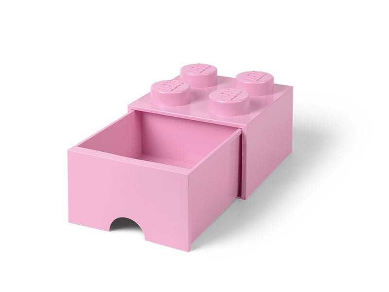 LEGO 4-Stud Light Purple Storage Brick Drawer