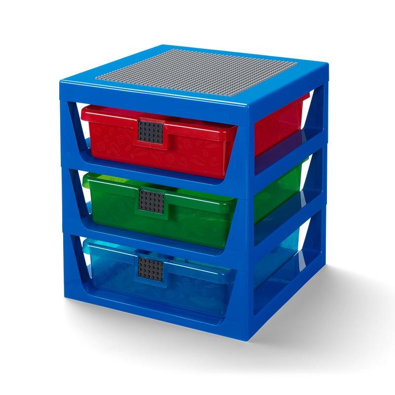 Transparent Blue LEGO Rack System