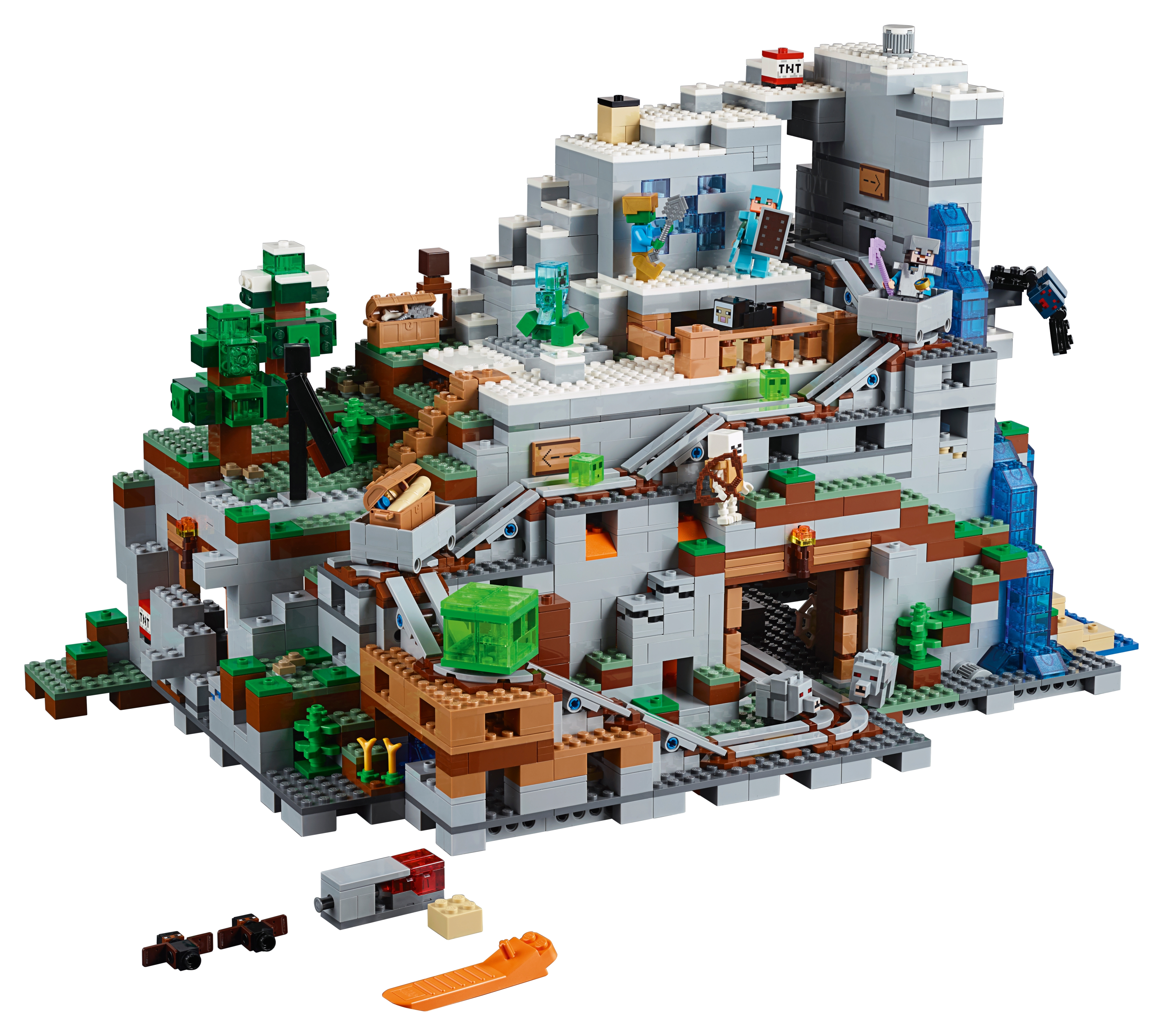 The Mountain Cave 21137 Minecraft Buy Online At The Official Lego Shop Us