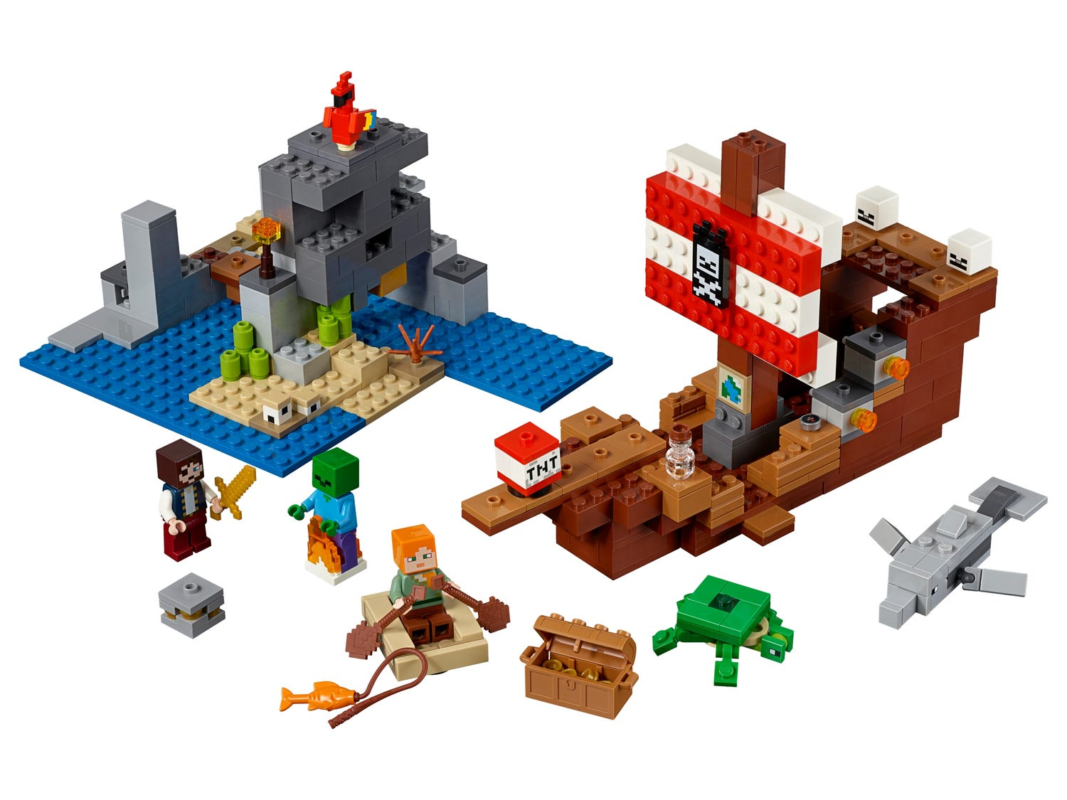 The Pirate Ship Adventure 21152 | Minecraft™ | Buy online at the ...