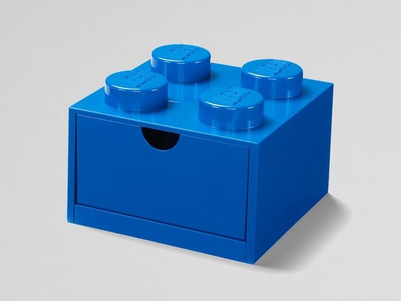 LEGO® 4-Stud Blue Desk Drawer