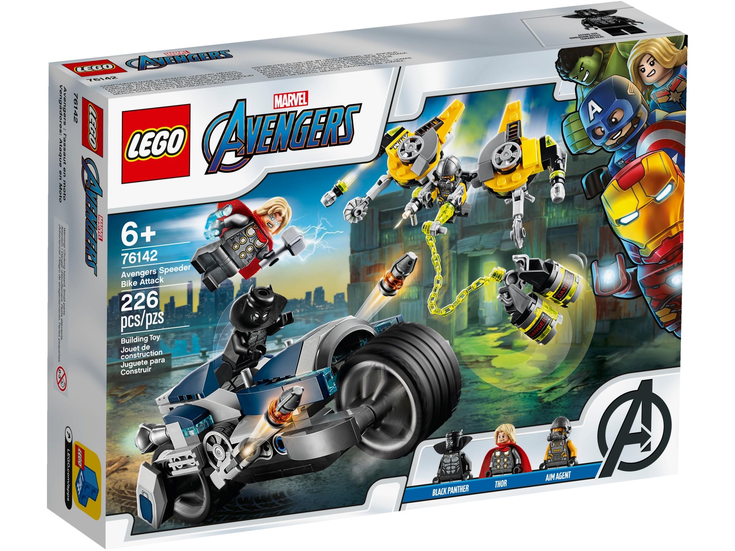 LEGO ® Super Heroes minifigur Black Panther de Set 76142 nouveau