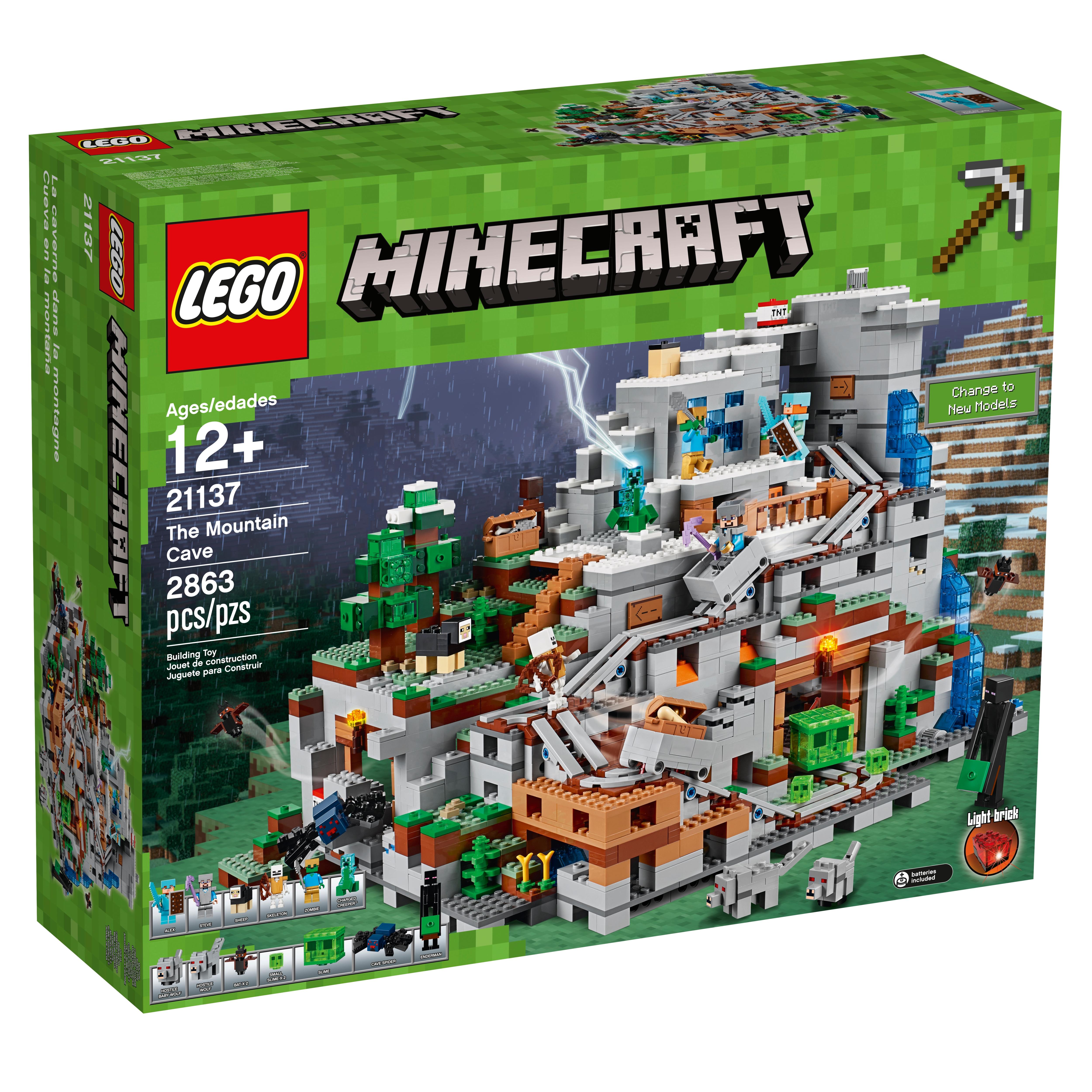 Spider Weapons Creeper Lego Minecraft Minifigure Lot F ~ Steve Zombie x 2