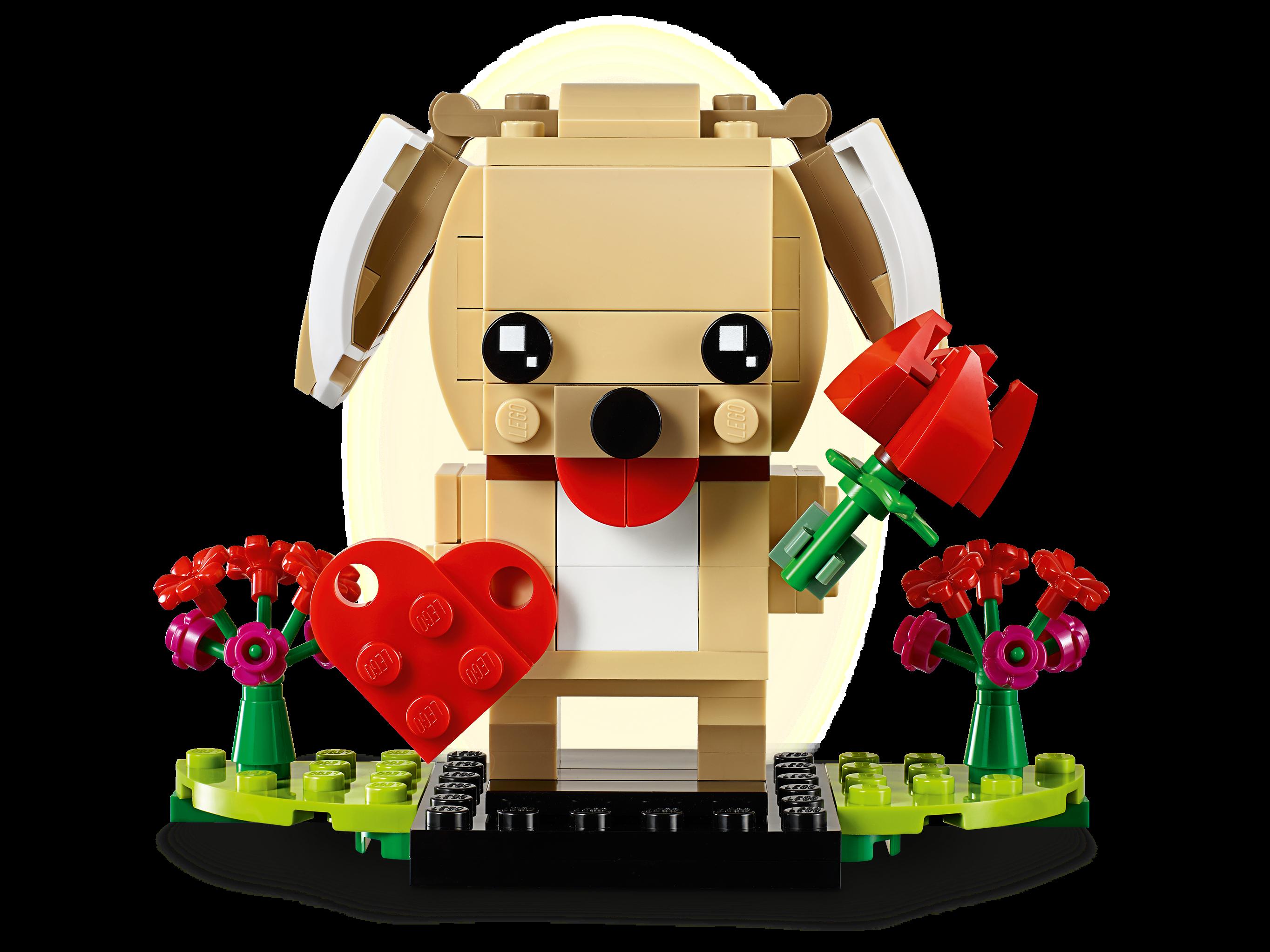 LEGO® 40349 BrickHeadz™ VALENTINE/'S PUPPY 147 Pieces NEW SEALED BOX HTF RARE