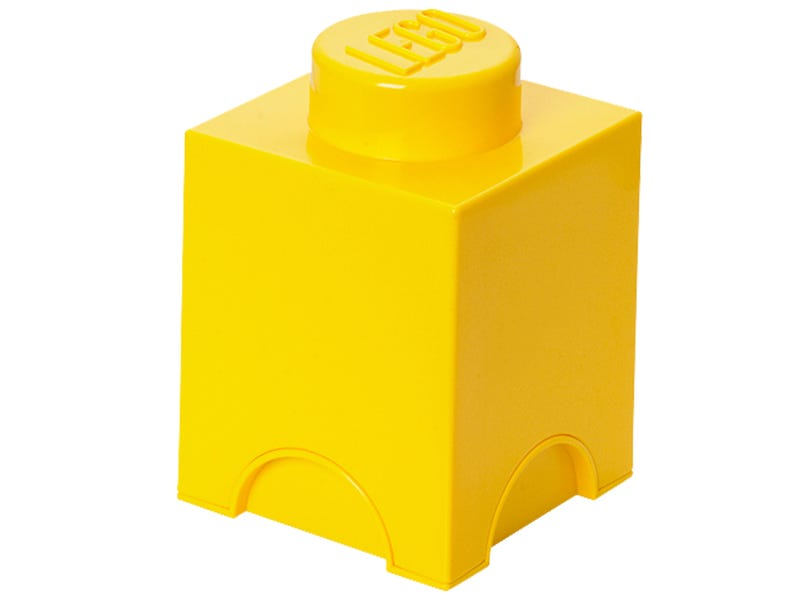 LEGO® 1-stud Yellow Storage Brick