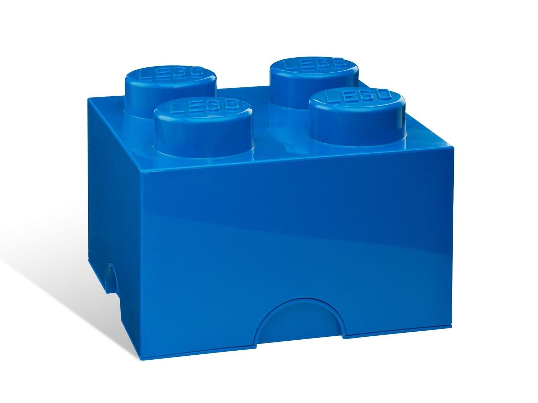 Brique de rangement LEGO® bleue 4 tenons