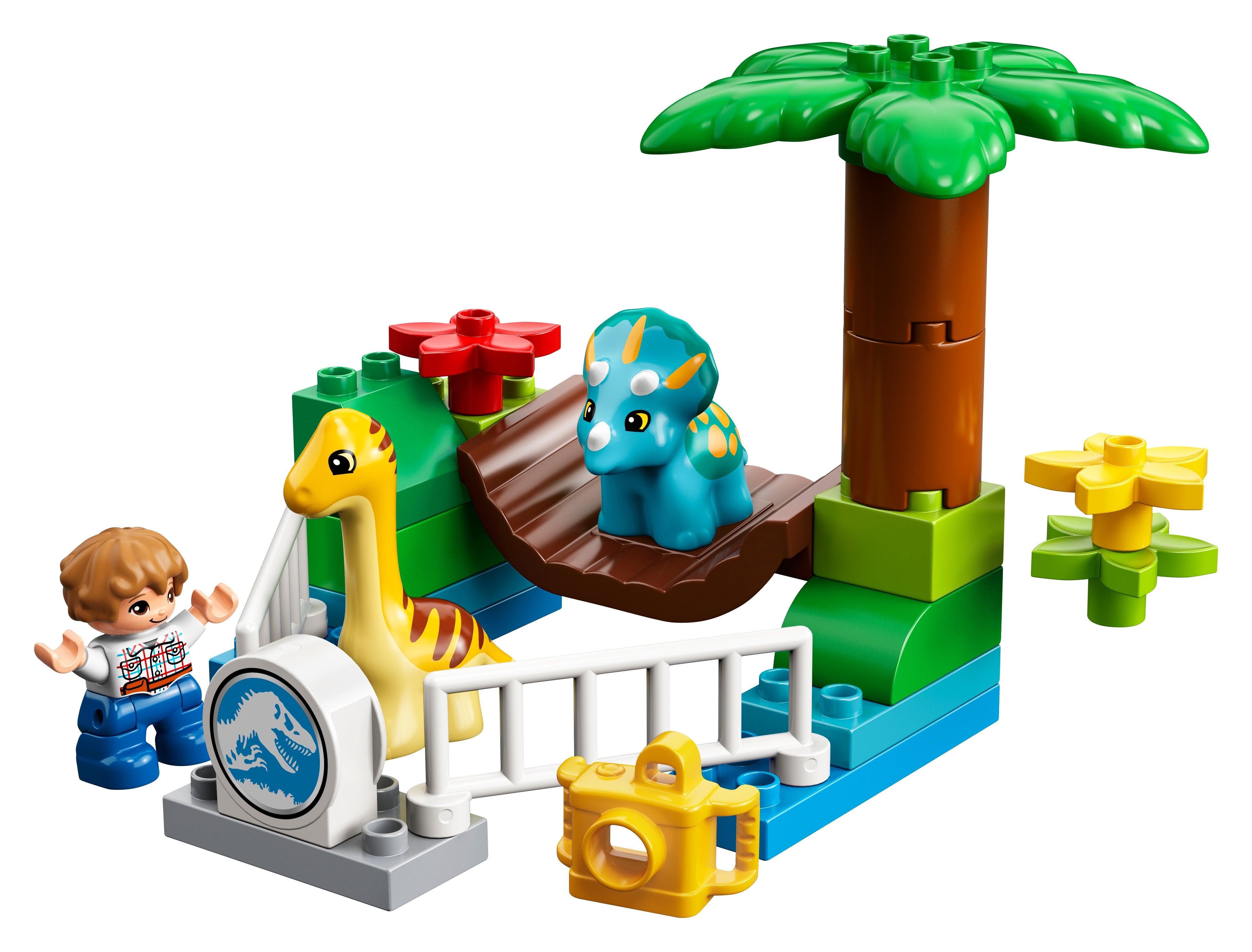 Lego Duplo Light Blue Fence Zoo 5pcs
