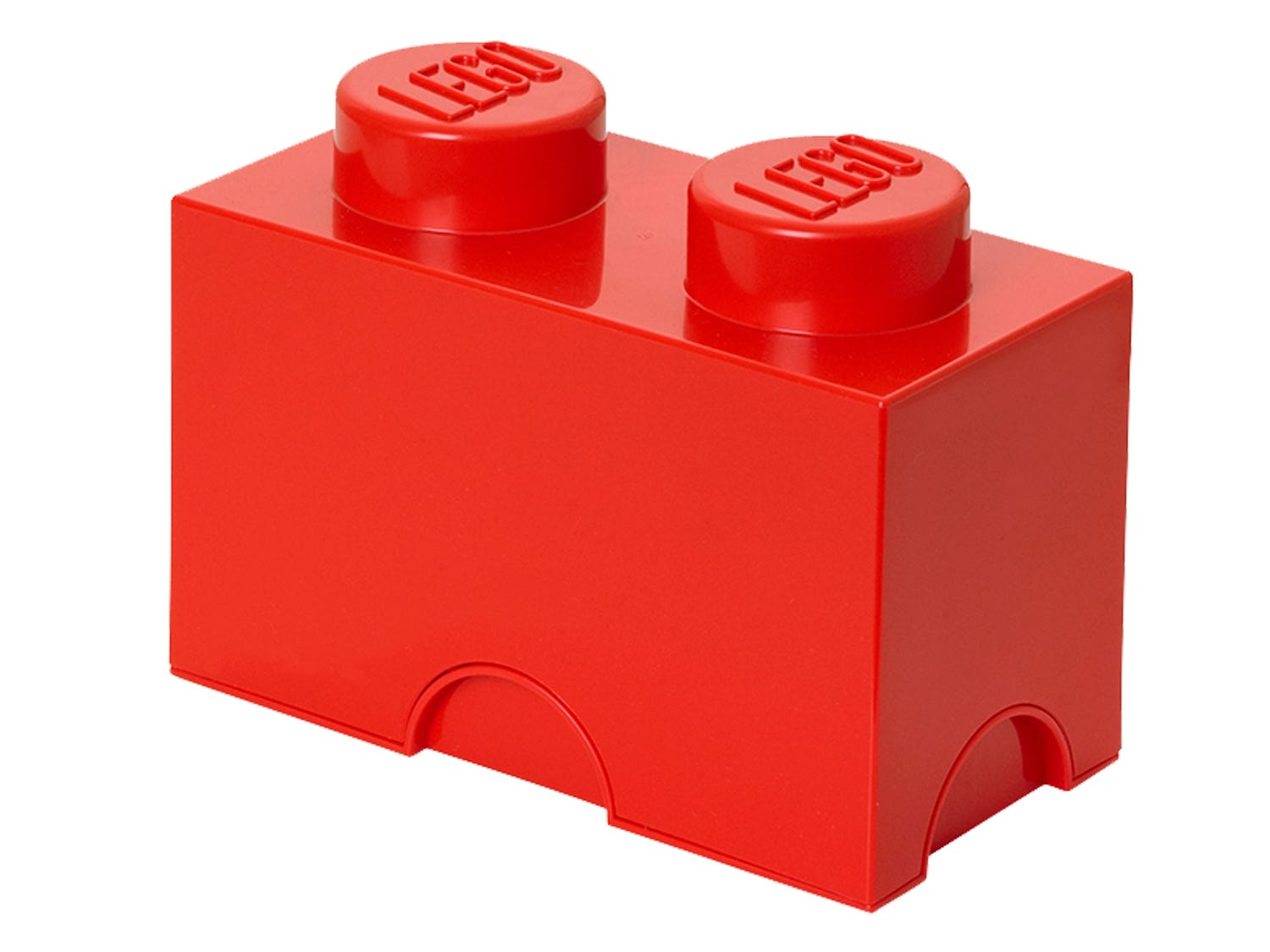 LEGO® 2-stud Red Storage Brick