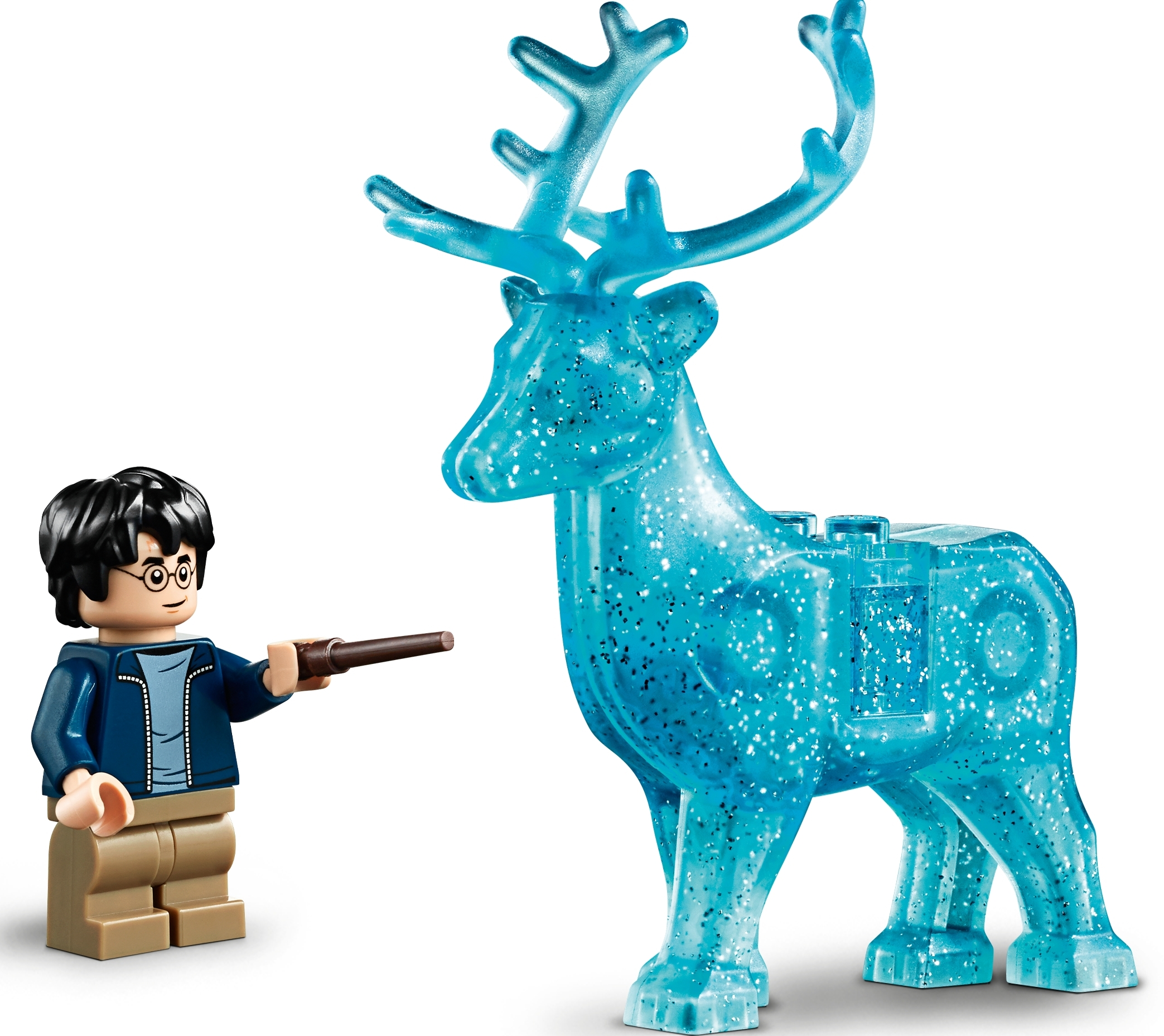 Lego Harry Potter Figure w// Wand /& Dual Face from Expecto Patronum 75945 NEW
