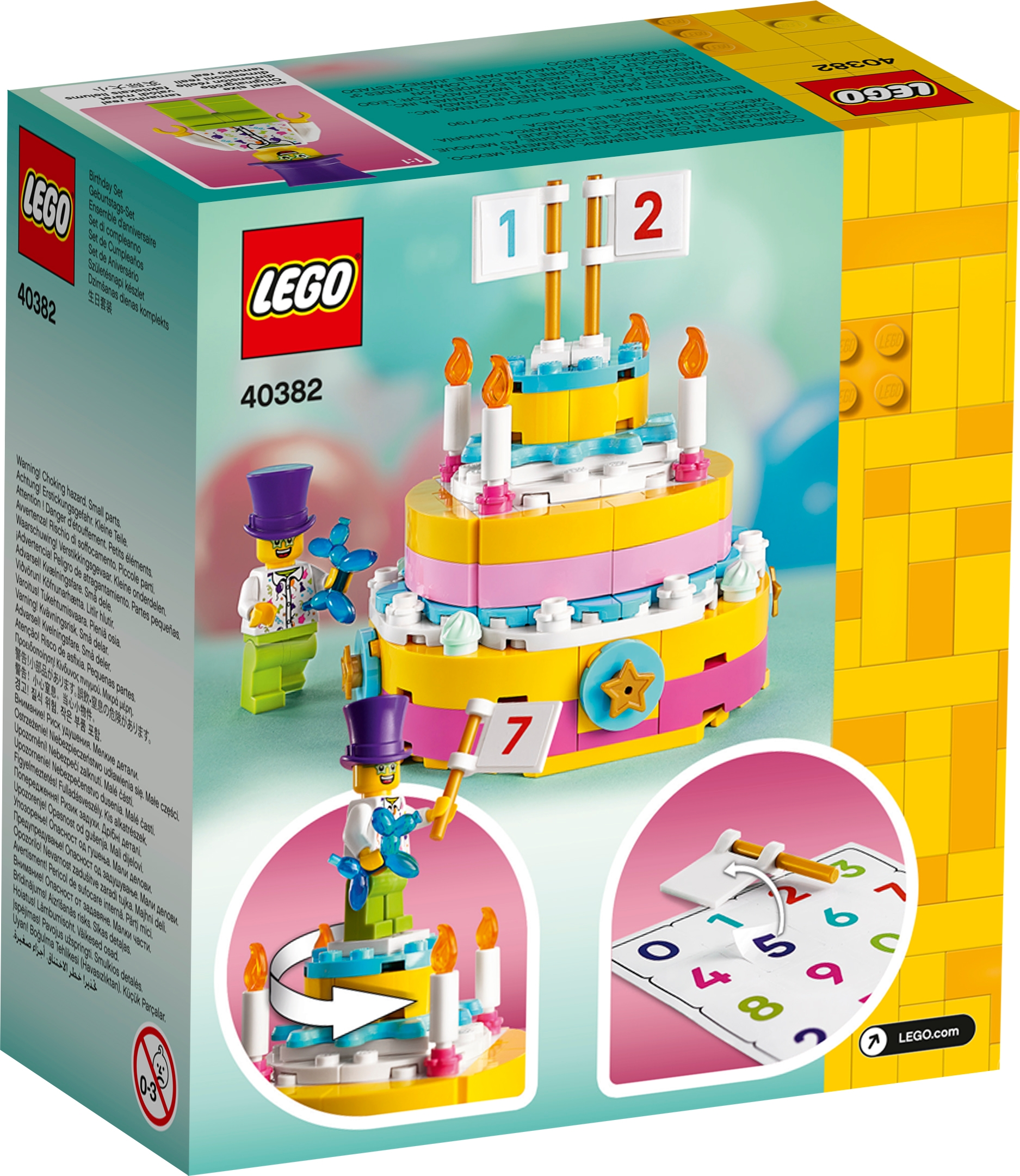 Lego Birthday Cake Decoration Set NEW Exclusive 2020 40382 141 pcs