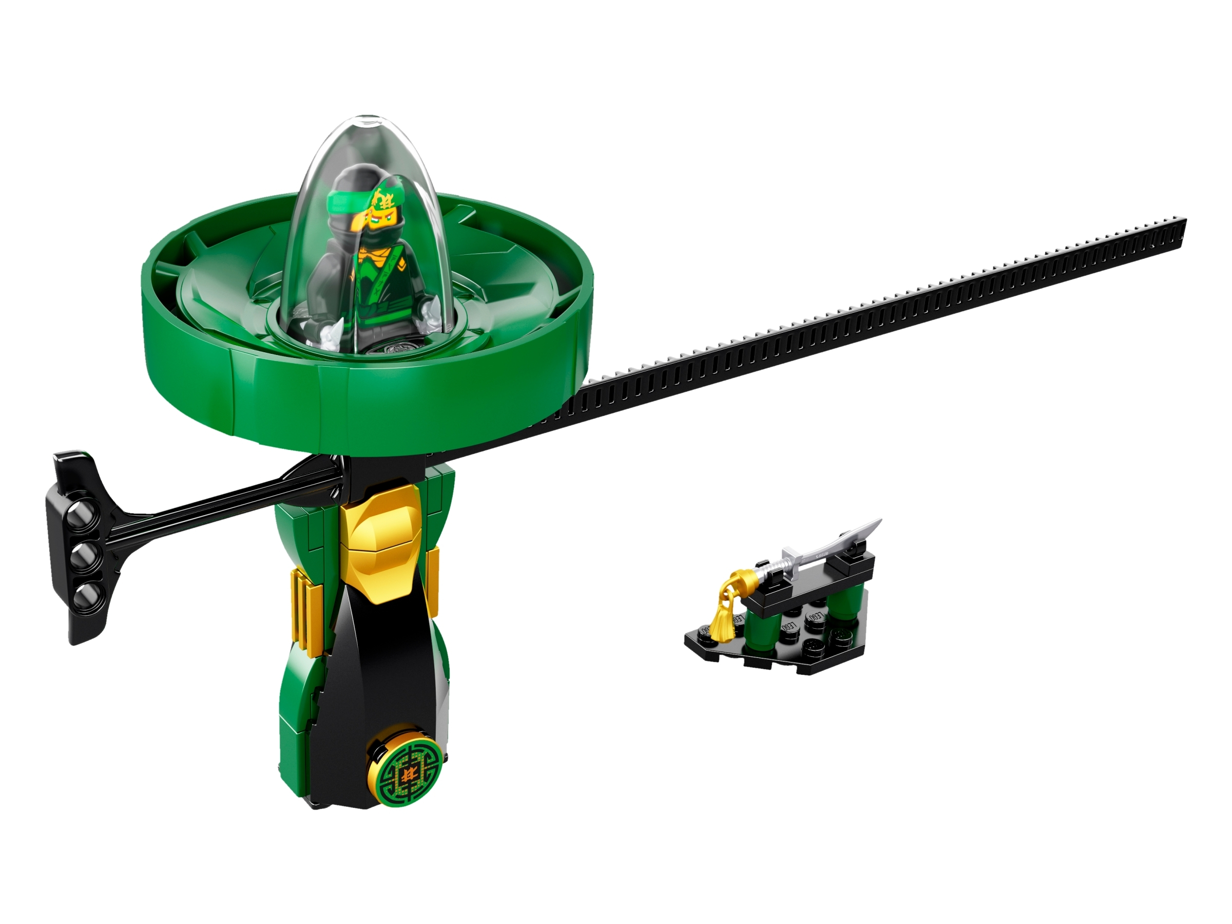 LEGO 70628 Lloyd Spinjitzu Master the Ninjago Movie green ninja spinner