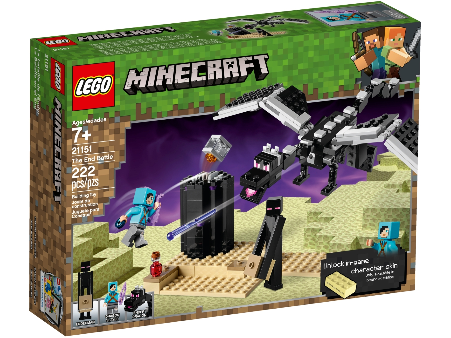 The End Battle 21151 Minecraft Buy Online At The Official Lego Shop Au Place it anywhere and tap on it 3. the end battle