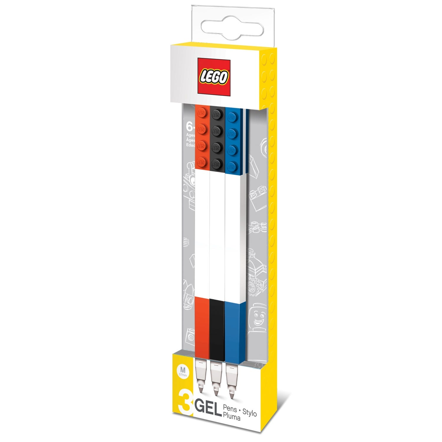 LEGO 3-Pack Gel Pen Set