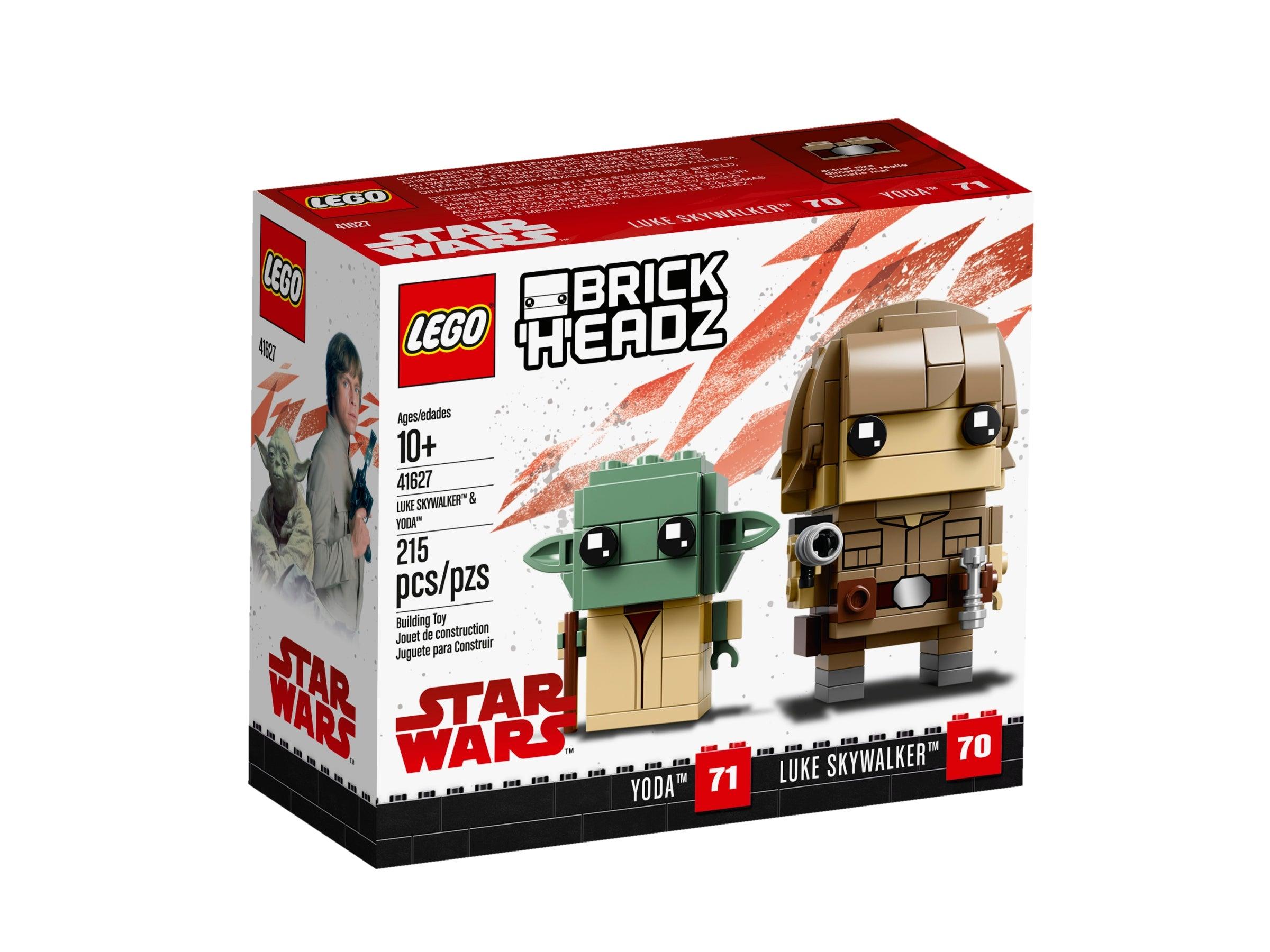 LEGO 41627 BrickHeadz Luke Skywalker /& Yoda Star Wars 71 70
