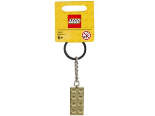 Keychain 2x4 Stud Gold