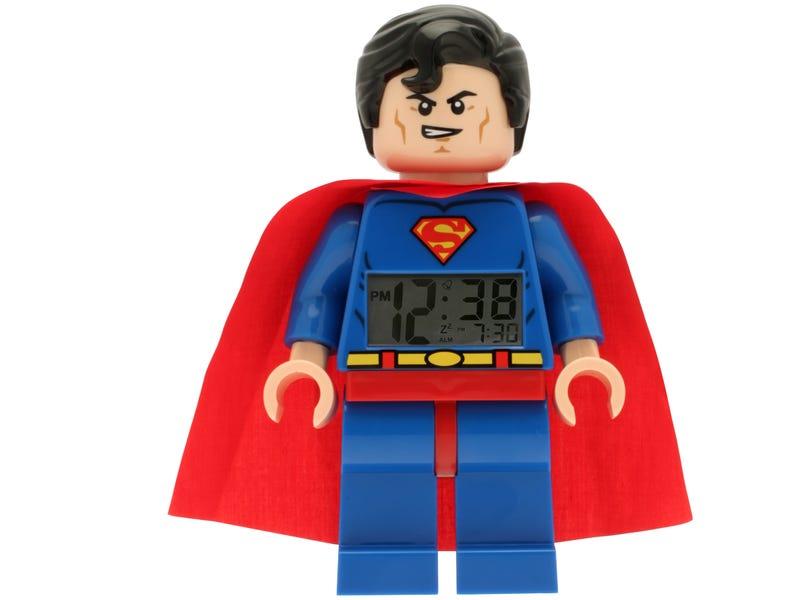 """LEGO® DC Comics"""" Super Heroes Superman"""" Minifigure Clock"""