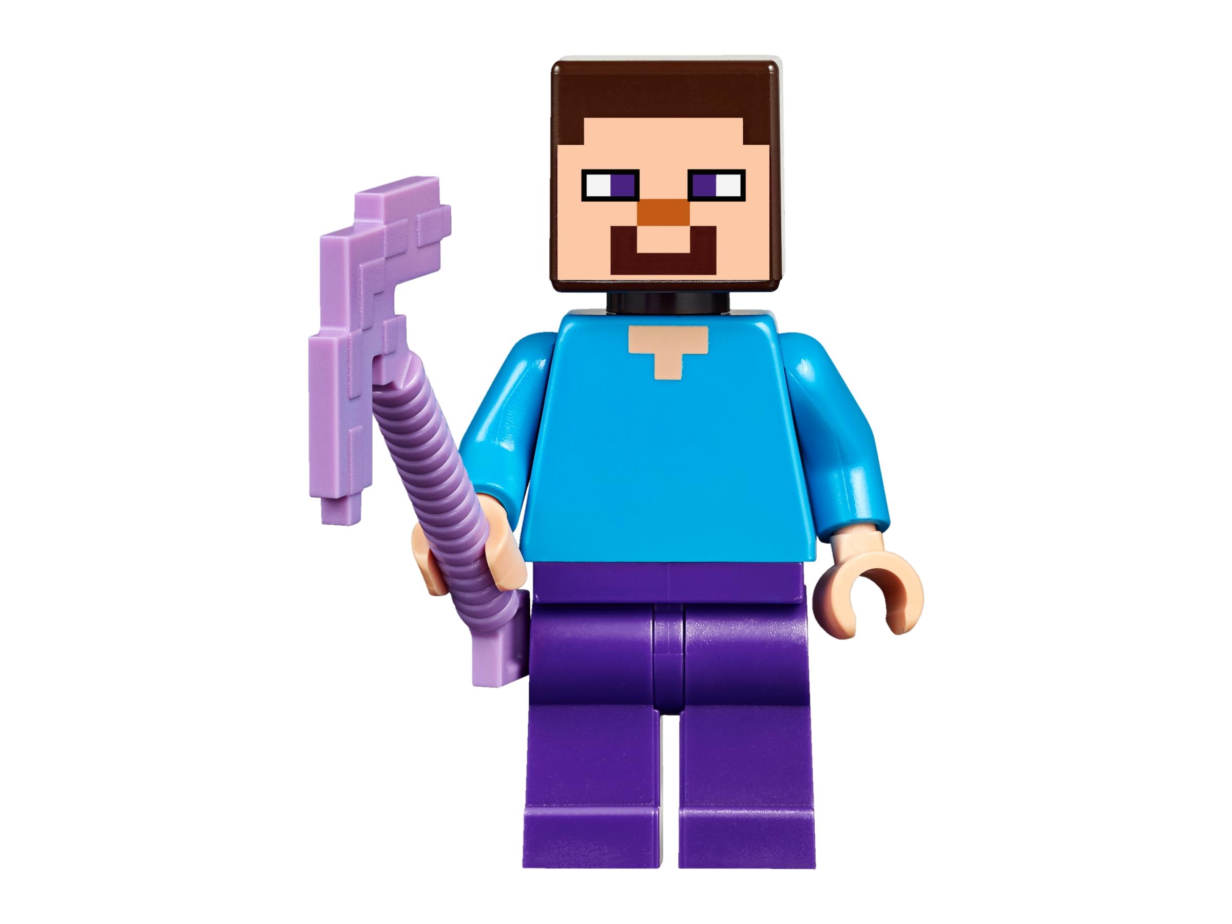 New Minifigure Custom Lego Alex with Purple Sword Character Minecraft Video Game