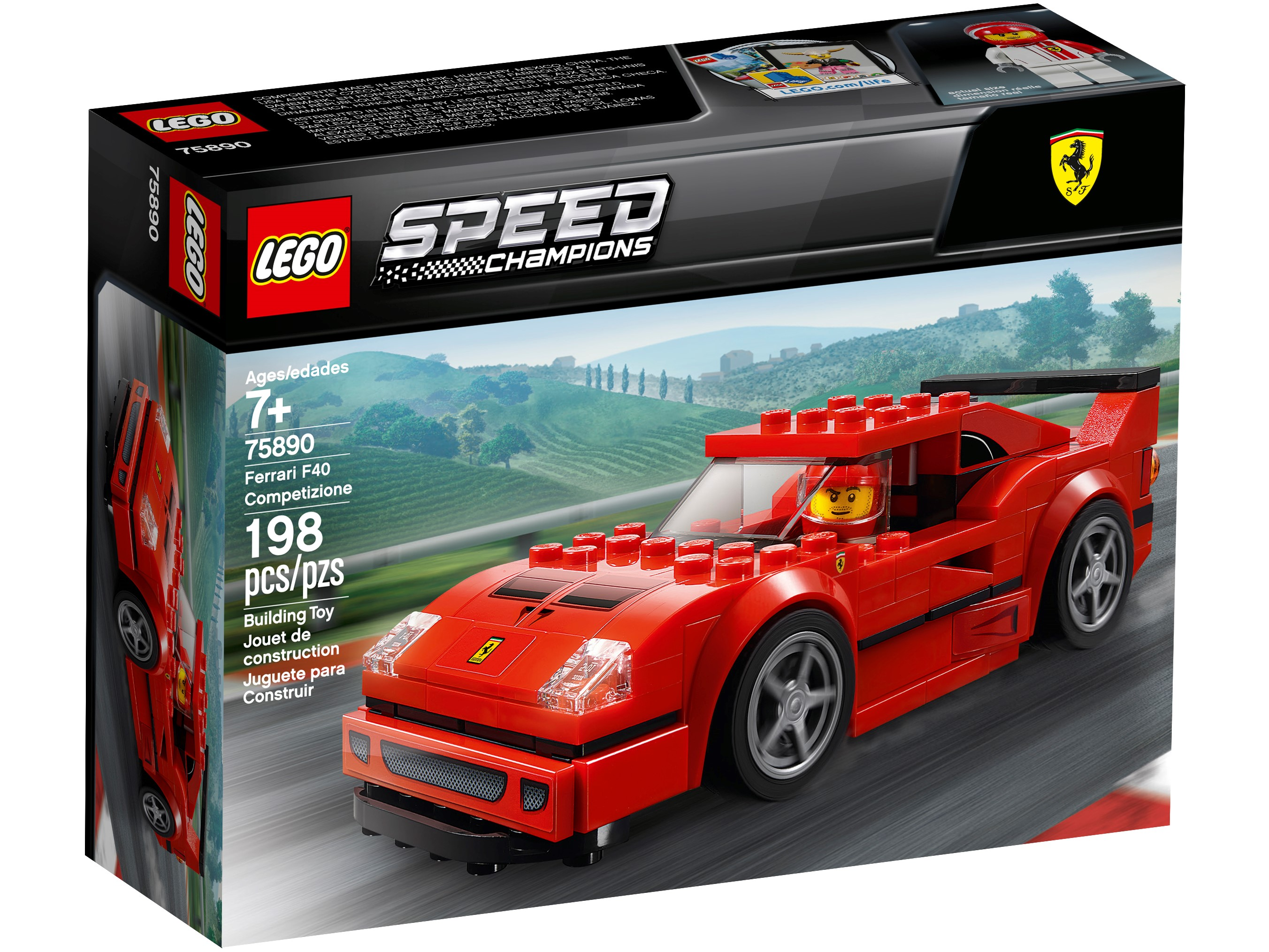 Ferrari F40 Competizione 75890 Speed Champions Buy Online At The Official Lego Shop Gb