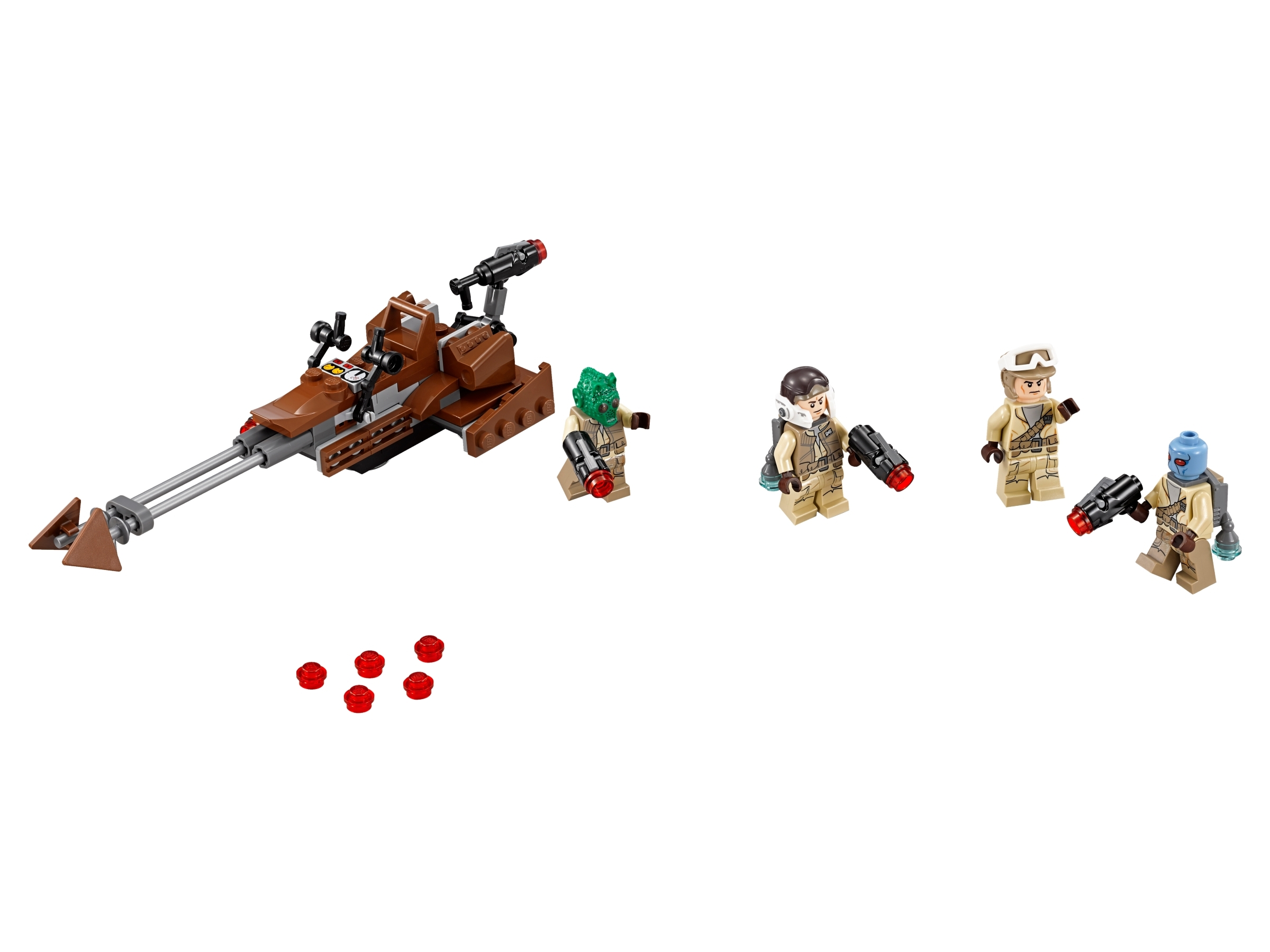 LEGO® Star Wars™ Rebel Alliance Custom Trooper rouge one minifigure blaster tan